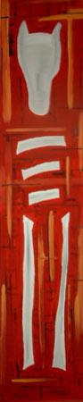 Totes Pferd | Acryl | 180x36cm | 2001