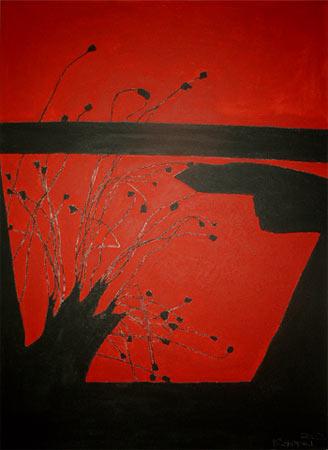 MOHNSCHATTEN | Acryl | 140x100cm | 2002