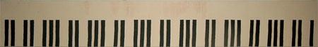 KLAVIERSCHULE | Acryl | 161x23cm | 2005