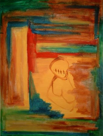 Sag Nichts | Acryl |102x75cm | 2005