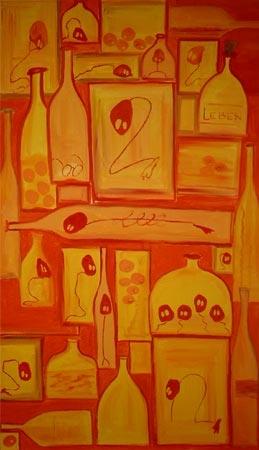 Lustküche | Acryl | 140x81cm | 2005