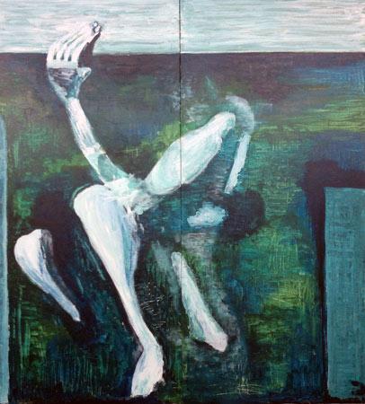 Wagnis Leben | Acryl | 123x56cm | 2012