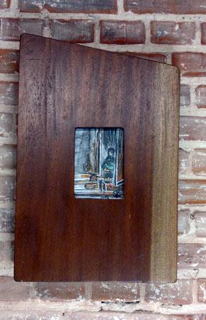 Versteck II | Kohle Acryl | 11x17+58x37cm | 2013