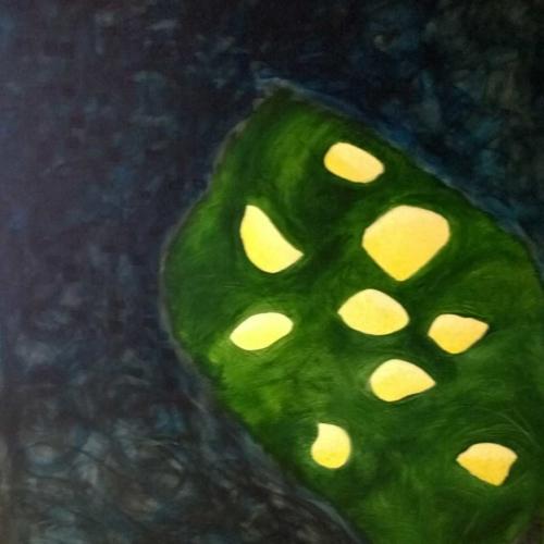 Zitronenbaum bei Nacht | Acryl |139x102cm | 2017