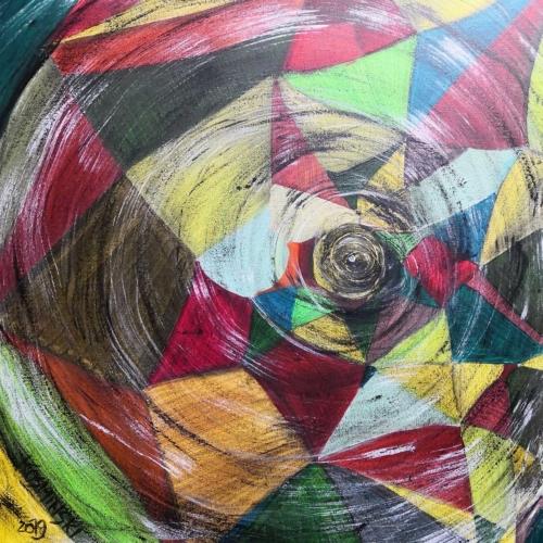 Gedanken | Acryl | 58x58 cm | 2019